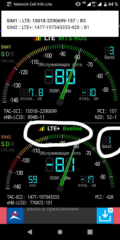 4G/LTE на 2000 МГц